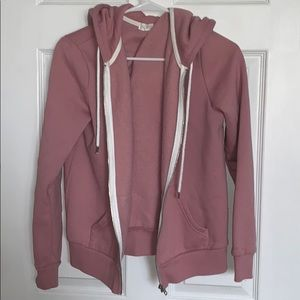 Pretty pink zip up